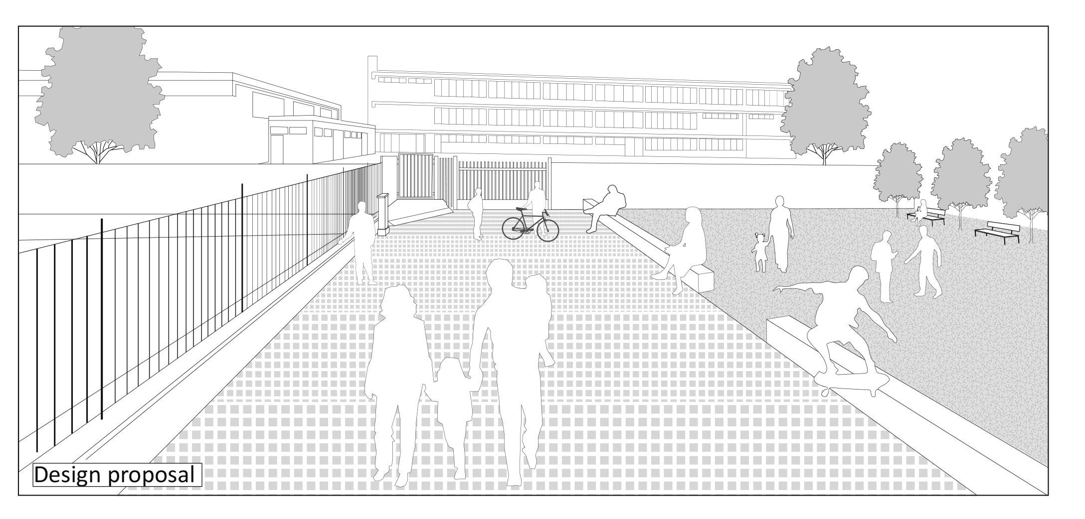 """Ingresso scuola:  progetto - Estratto da """"Street for pupils"""""""
